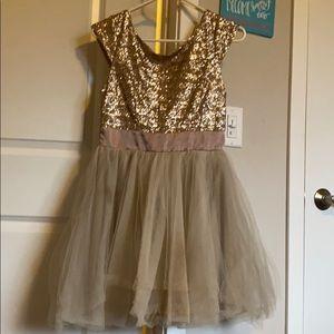 Cream colored Deb homecoming dress
